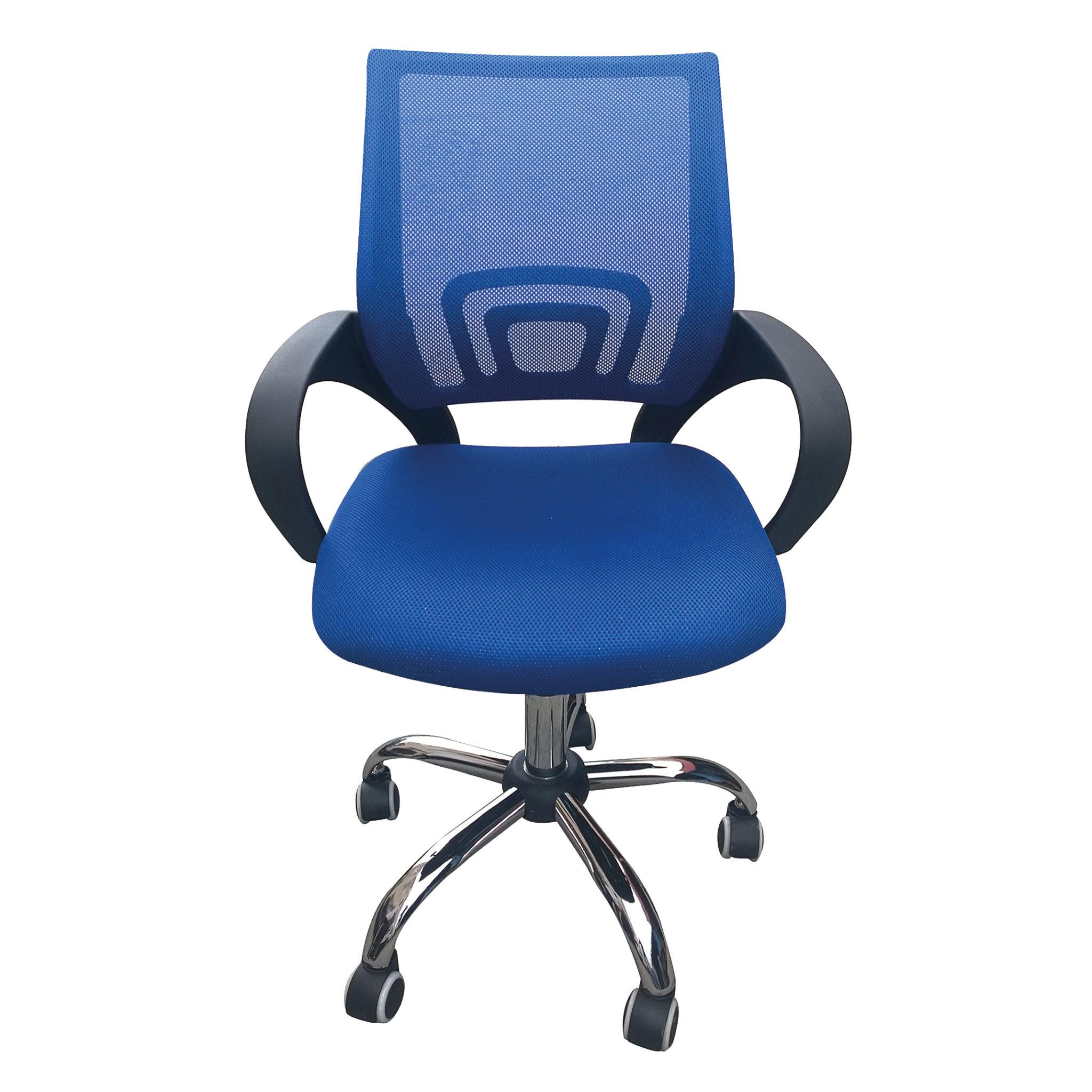 Eastner Mesh Back Office Chair Blue