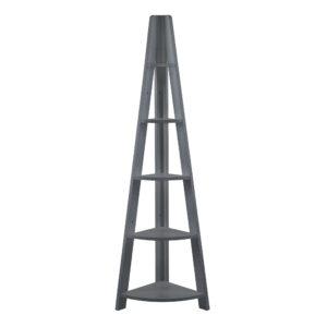 Toddny Corner Ladder Shelving Black