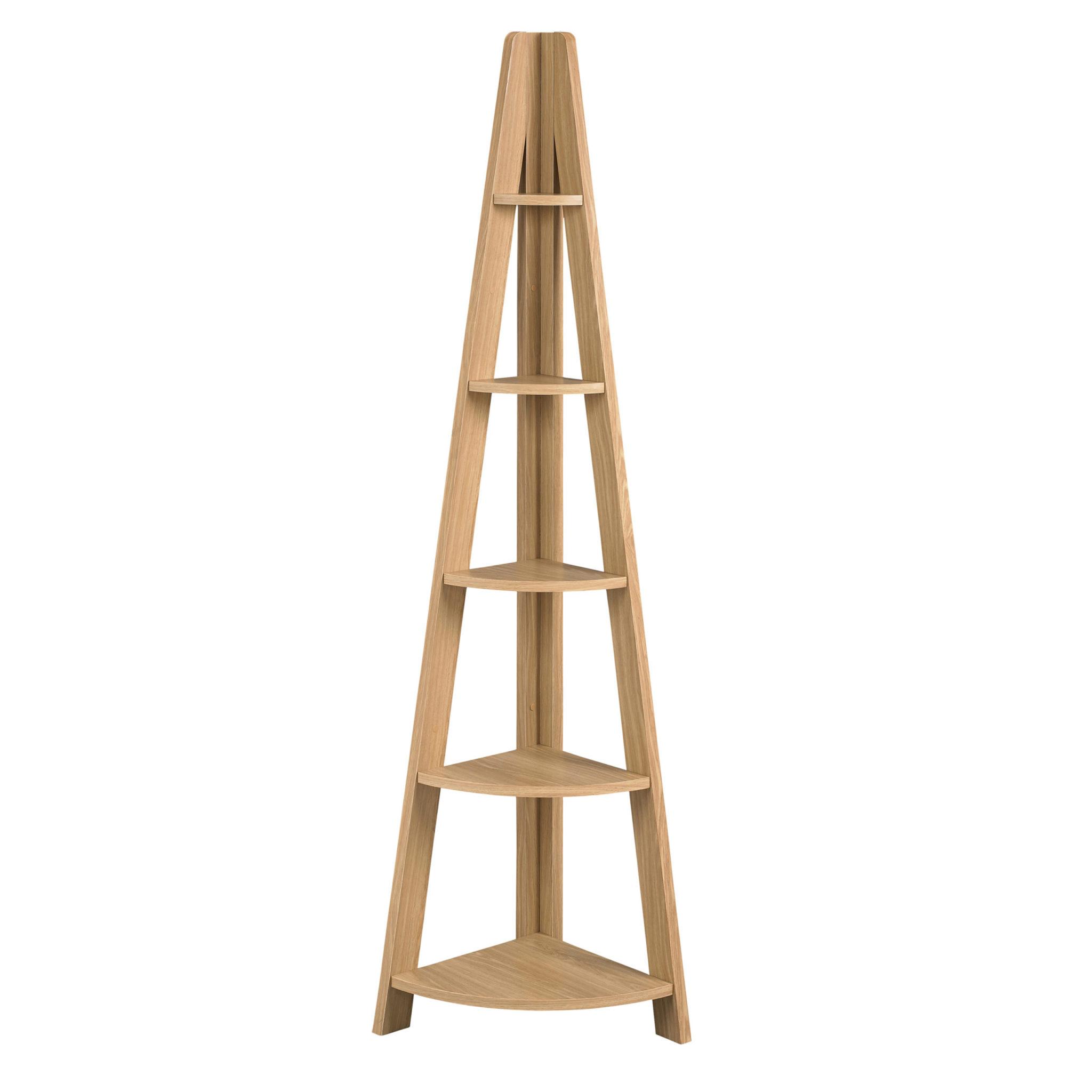 Toddny Corner Ladder Shelving Oak