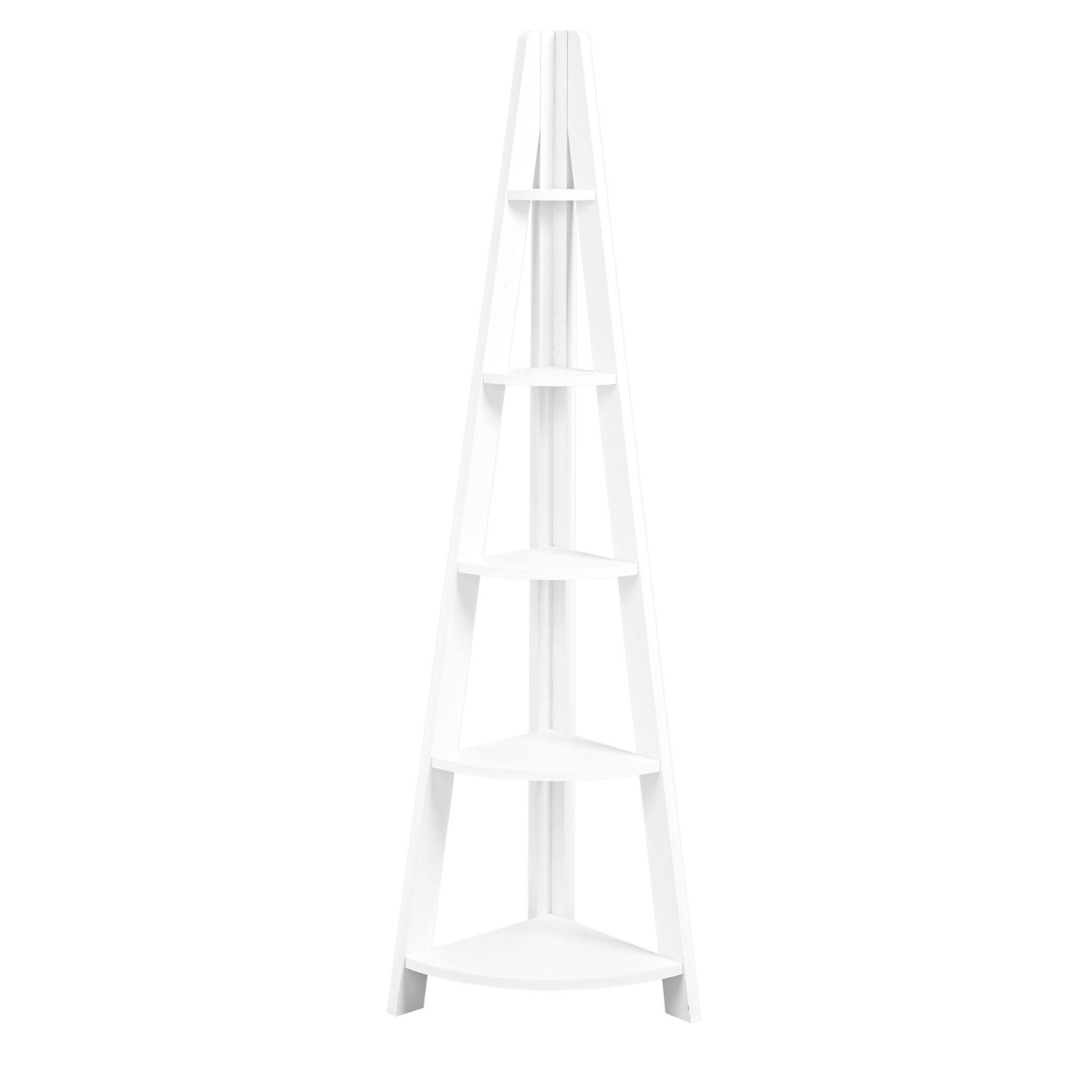 Toddny Corner Ladder Shelving White