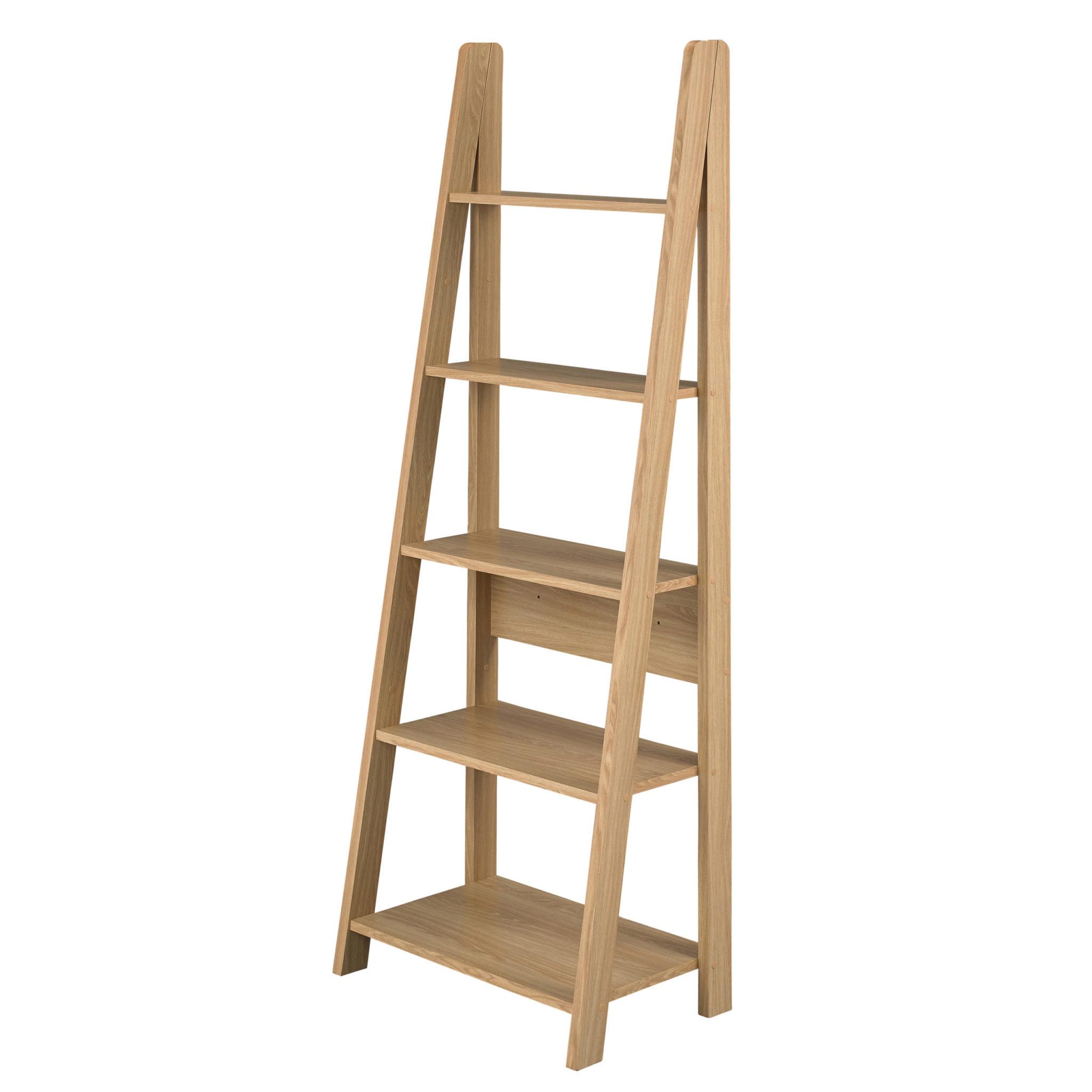 Toddny Ladder Bookcase Oak