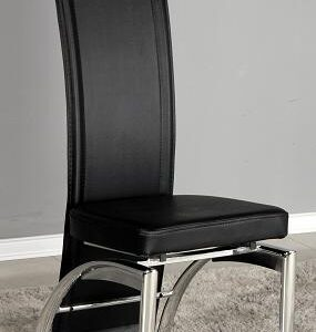 Mestre Padded Dining Or Kitchen Chair Black Seat Tall Back