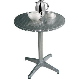 Boley Round Outdoor Table Stainless Steel Aluminium