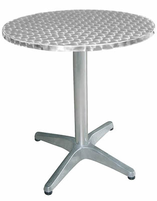 Hugh Round Garden Table Stainless Steel Outdoor Table Use