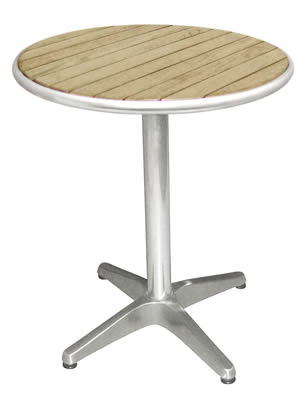 Dalia Outdoor Garden Patio Round Bistro Table Ash Top - 80 cm