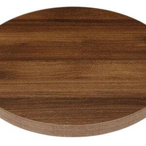 Vason Rustic Oak Round 60Cm Table Top Commercial Quality
