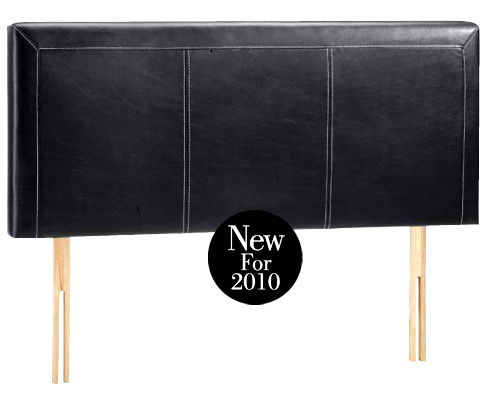Veronica Black Faux Leather Headboard
