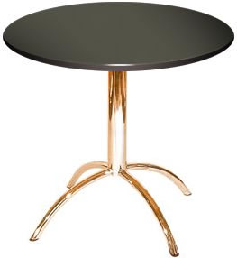 Vienza Quality Black Round Dining Table