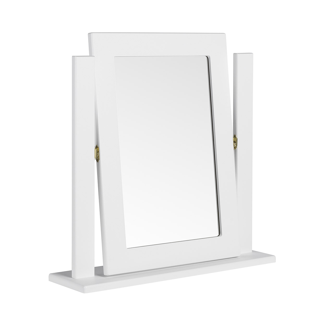 Viz Alp White Gloss Dressing Table Mirror UK Made Quality Fully Pre Assembled