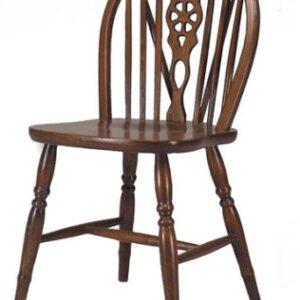 Dara Farmhouse Beech Frame Oak Kitchen Dining Chair Fully Assembled