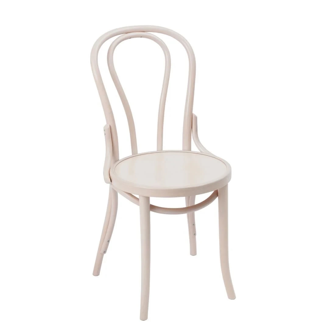 Apone Pair Kitchen Dining Chair White Bentwood Style Fully Assembled