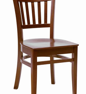 Gredile Dark Walnut Wood Stackable Chairs Fully Assembled