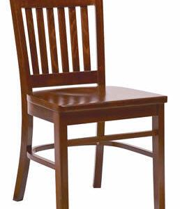 Brinto Dark Wood Frame Kitchen Dining Chair Fully Assembled