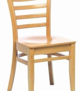 Linker Quality Wooden Slatted Back Dining Kitchen Chairs Fully Assembled