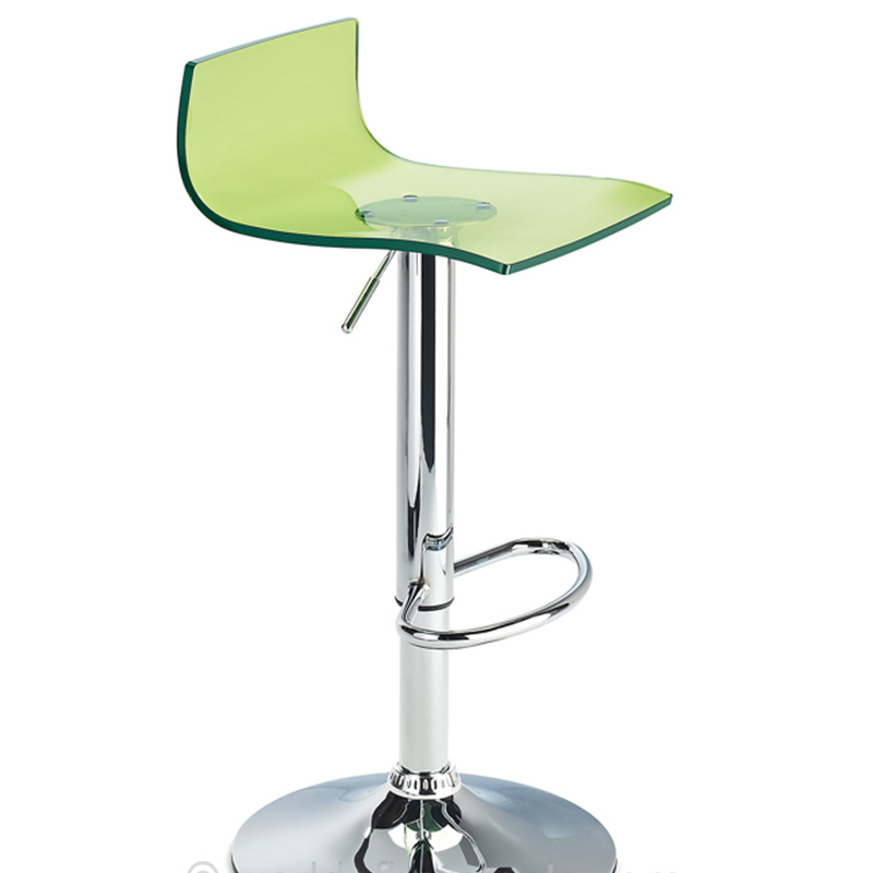 Wye Transparent Acrylic Adjustable Breakfast Bar Stool - Green